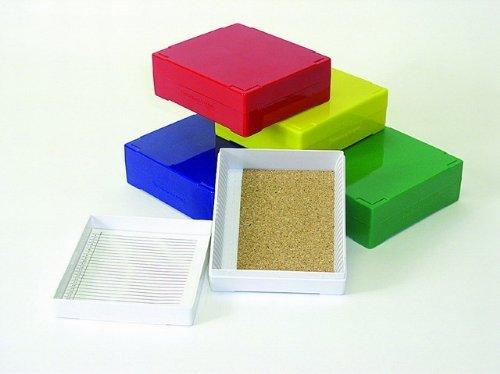 25 Capacity Slide Storage Box, Green. 97-0027