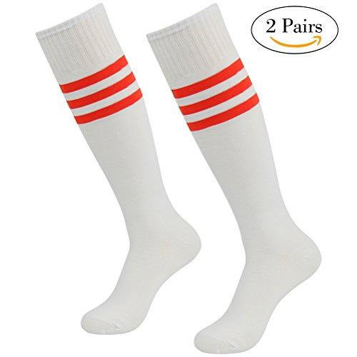 Youth Men's Women's Soccer Socks, Lucky Commerce Sports Team Knee High Tube Soccer Socks(2/4/10 Pairs) – DiZiSports Store