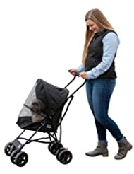 Pet Gear Travel Lite Pet Stroller for Cats and Dogs up to 15-...