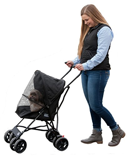 Pet Gear Travel Lite Pet Stroller for Cats and Dogs up to 15-pounds, Black (Gear Small Pet Travel)