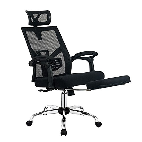 Office Desk Chair with Footrest Adjustable High Back Computer Task Swivel Executive Office Chair for Back Support with Lumbar Support Adjustable Headrest by BestMassage