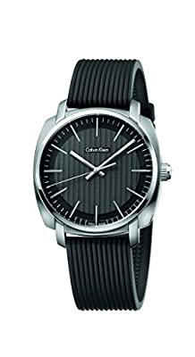 Calvin Klein Highline Black Silver Quartz Analog Men's Watch K5M311D1