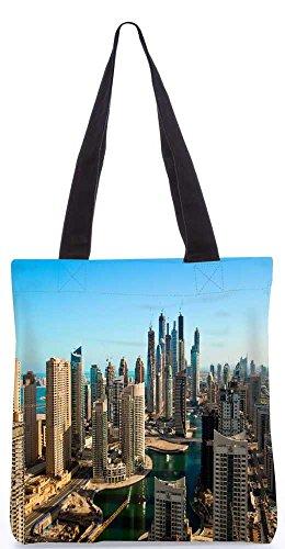 """Snoogg Gebäude In Dubai Tragetasche 13,5 X 15 In """"Shopping-Dienstprogramm Tragetasche Aus Polyester Leinwand"""