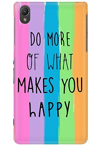 free shipping 1a33b c3a11 AMEZ Back Cover for Sony Xperia Z2 (Do What Makes You Happy): Buy ...