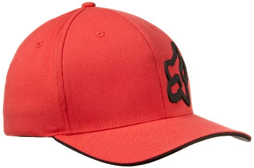 Fox Men's Signature Flexfit Hat, Red, Small/Medium