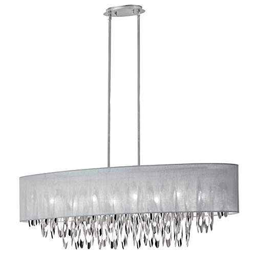 (Dainolite Lighting ALL-448C-PC-GRY  8-Light Oval Chandelier)