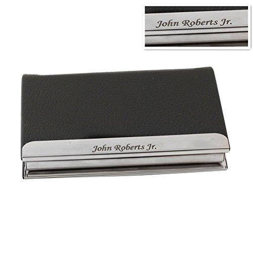 GP Engravable Business Card Holder Custom Leatherette Metal Skin Card Case for Men Gift- Free - Credit Skins Card Custom