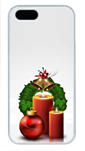 Christmas decoration balls and candles free iphone 5S case PC White for Apple iPhone 5/5S