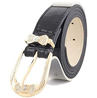 Black Fur Belt For Women