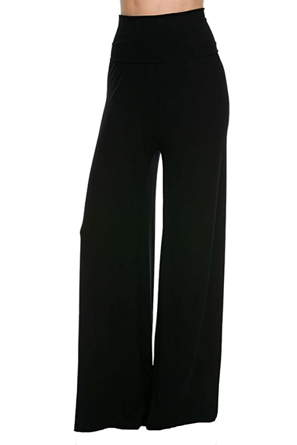Superline Wide Leg High Fold Over Waist Palazzo Pants At Amazon