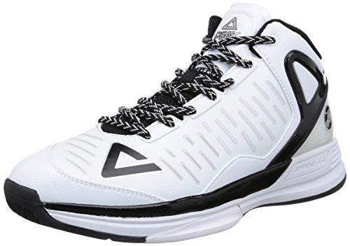 Peak Tp2, Scarpe da Basket Uomo Bianco (Bianco (White/Black))