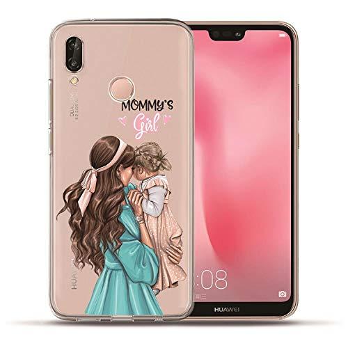 Fashion Super Mom Baby Girl Phone for Huawei P20 Lite Pro P10 Plus P8 P9 Lite 2017 P Smart Honor 9 6A 6X Family case Cover Etui,03,P10 Plus