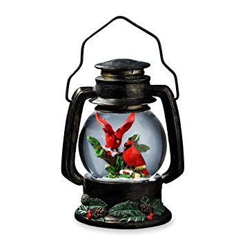 The San Francisco Music Box Company Cardinals Antique Lantern Snow Globe by The San Francisco Music Box Company