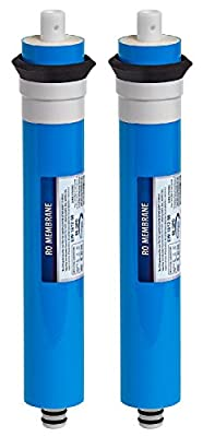Express Water – 2 Pack Reverse Osmosis Membrane – RO Membrane 50 GPD Water Filter Replacement – Under Sink and Reverse Osmosis System