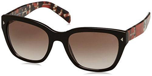 Prada 09SS DHO3D0 Brown / Tortoise / Red Stripes 09SS Square Sunglasses Lens - Authentic Prada Sunglasses