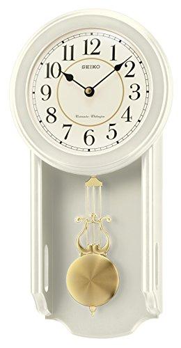 - Seiko Westminster/Whittington Dual Chime Wall Clock with Pendulam - Cream