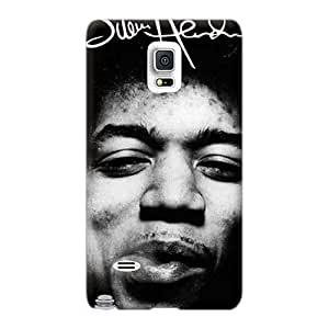 Samsung Galaxy Note 4 YIu19916ADfc Allow Personal Design Lifelike Jimi Hendrix Image Shock Absorbent Cell-phone Hard Cover -TimeaJoyce