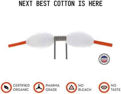 Algodón Vape Orgánico COTN THREADS para resistencias de 3 mm – 20 piezas de algodón ecológico para cigarrillos electrónicos ¡Lo último en accesorios para el vapeo!: Amazon.es: Salud y cuidado personal