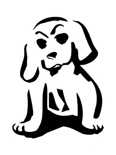 Ranger Products Cartoon Puppy Dog - Decal Sticker, Die Cut Vinyl Decal for Windows, Cars, Trucks, Tool Boxes, laptops, MacBook - virtually Any Hard, Smooth Surface