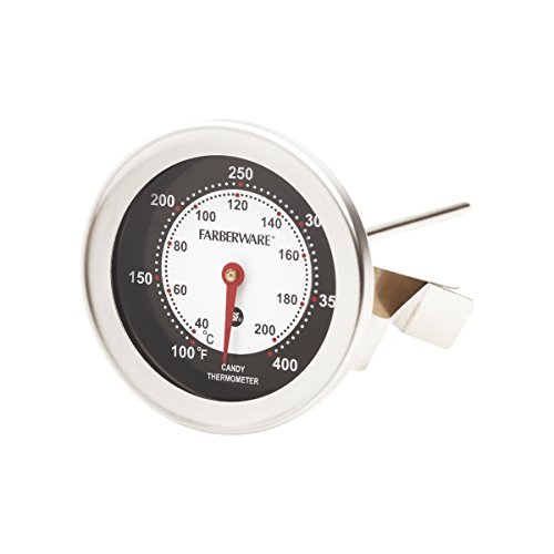 Deep Fry Thermometer Stainless Steel - Farberware Protek Candy and Deep Fry Thermometer, Stainless Steel