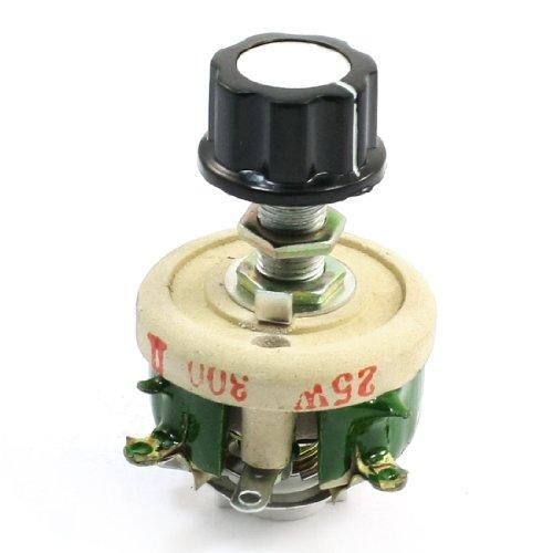 Rotary Screw Pump - 25W 300 Ohm Ceramic Wirewound Potentiometer Rotary Resistor Rheostat