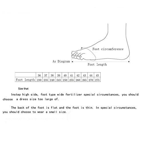 Calzature Uomo Scarpe scarpe donna corsa 39 Uomo Donna Autunno Grigio Donna Traspirante sportive Sneakers Uomo Dimensione passeggio Comode Primavera da Knit Amanti da Grigio Colore 8qwPnvC
