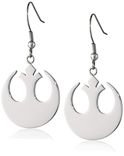 (Star Wars Jewelry Rebel Alliance Stainless Steel Dangle Hook Drop Earrings (SALES1SWMD))