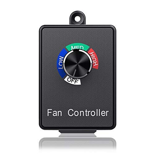 Cdmall 350W Electronic Fan Speed Controller Variable Adjuster for Hydroponics Inline Duct Exhaust Ceiling Fans