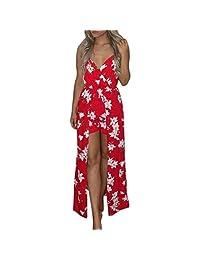 0fda70c624a Goddessvan Women Boho Spaghetti Strap Jumpsuit Printing Playsuit Dress  Summer Beach Rompers