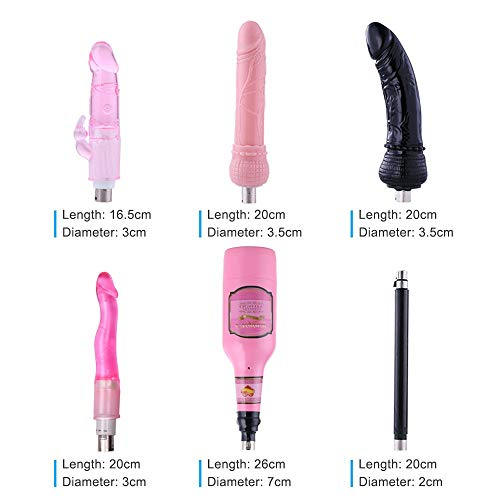 Automatic Sex Machine for Women,Female Masturbation Thrusting Pumping Gun Vagina Masturbator Cup for Men with 6 Attachments (Size7) by AUXFUN (Image #1)
