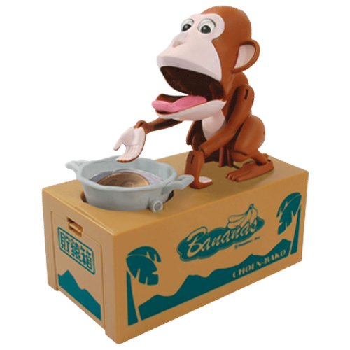 Choen Bako Hungry Monkey Coin Bank (Brown) by Choken Bako