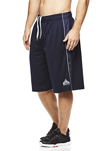 (Above the rim Men's Basketball Short Performance Mesh Athletic Workout Gym Shorts - 2K - Navy, Small)