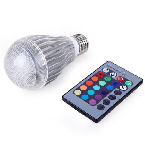 HDE Remote Control Dimming Energy Efficient Multi Color Changing 9W E27 LED Lamp Light Bulb + RC (Rave Lightbulb compare prices)