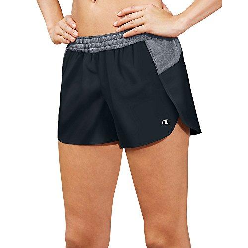 Champion Women's Sport Short 5, Black/Medium Grey, X-Large