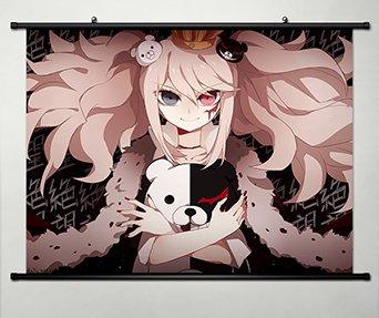 Wall Scroll Poster Fabric Painting For Anime Danganronpa Enoshima Junko & monokuma 068