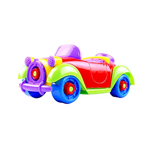 DIY TOYS, CAILLU Vintage sports car DIY STEM Learning Toys, Take Apart Fun , Construction Engineering Building Play Set For Boys Girls Toddlers, Best Toy Gift Kids Ages 3yr - (Diy Car Costume)