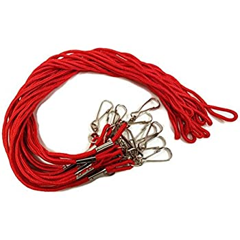 "RED Lanyards - 35"" Round Diameter with Swivel Hook"