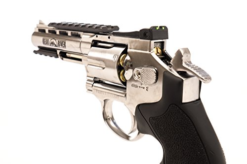 Details for BB Gun Bear River Exterminator 4 inch Chrome Full Metal CO2 BB/Pellet Airgun Revolver .177 Cal Pistol Use Standard Pellets or BB Ammo from Bear River Holdings