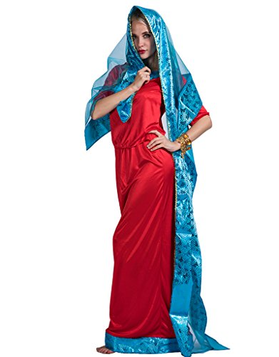Bollywood Themed Party Costume (EraSpooky Women's Bollywood Star Halloween Costume(Red, OneSize))