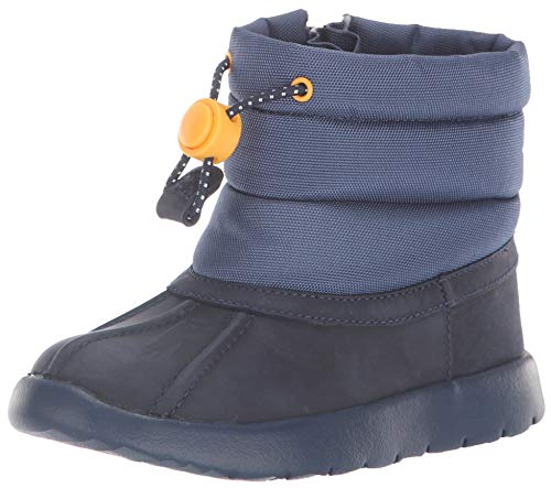 UGG Baby T Puffer WP Snow Boot, Navy, 9 M US Toddler (Uggs Leather Patent)