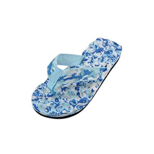 Chanclas Para Mujer, VENMO 2017 Verano Playa Zapatillas Sandalias Interior y al Aire Libre Zapatos de Flip-Flops Azul