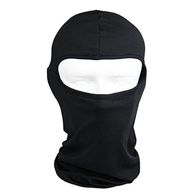 Thin Cotton Spandex Balaclava Face Mask, Ski Mask, Helmet Liner Lightweight and Thin for Maximum Comfort (Black)
