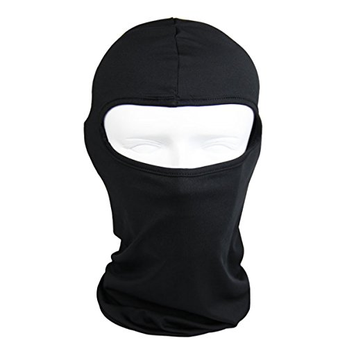 The Bikers Zone -Thin Cotton Spandex Balaclava Face Mask, Ski Mask, Helmet Liner Lightweight and Thin (Black)