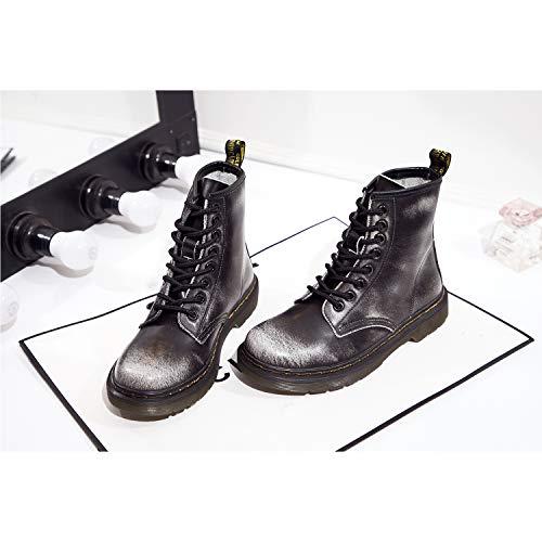 A Grigio caldo Stringati Snow Stivaletti Stivali Donna Boots Uomo Stivali Inverno Neve Pelliccia Cavaliere SITAILE qf16O8xA