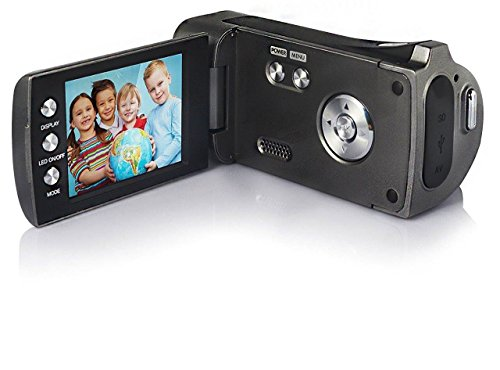 Lightahead DV Series Digital Video Camera with 4x Digital Zoom, 2.7-Inch LCD With Hand Strap & Cloth Bag (Glossy Black)