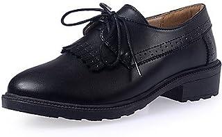 Njx/femme Chaussures Talon Plat en faux daim Bout Pointu Oxfords Robe/décontracté Noir/jaune/beige MJKIK