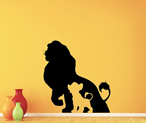 Lion King Wall Decal Cartoon Simba Disney Poster Vinyl Sticker Kids Teen Boy Room Nursery Bedroom Wall Art Decor Mural 148crt (Ios Lion)