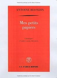Mes petits papiers par Antoine Blondin