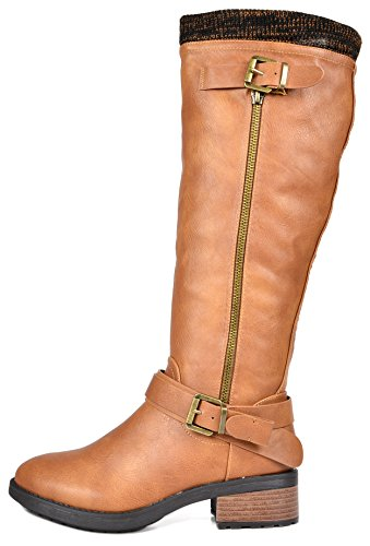 Boots Riding calf Pu Pairs Knee wide High Camel Available Women's Dream SxwOXUPn6S