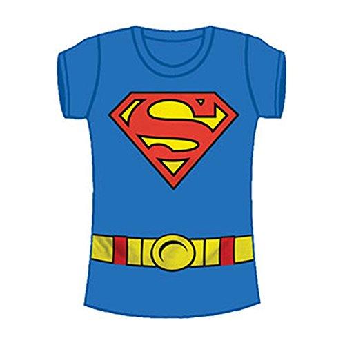Superman Supergirl Costume Blue Juniors T-Shirt XL